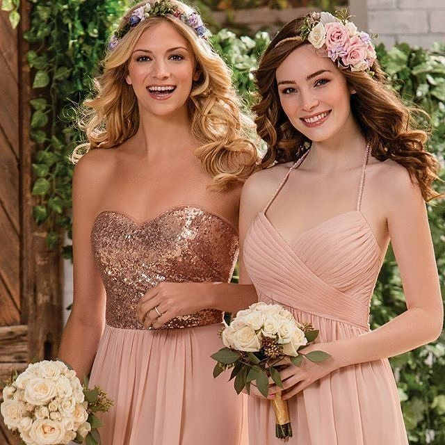 Heads over heels for @jasmine_bridal B2 bridesmaids! #jasminebridal #b2byjasmine #2016weddings #bestfriends #bridesmaid #maidofhonor #friends #bff #bridalstyle #bridalfashion #bridal #dresses #positivevibes #vibes #amazing #blush #rosegold #engaged #glams