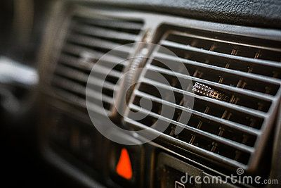 Close up view of car vent.