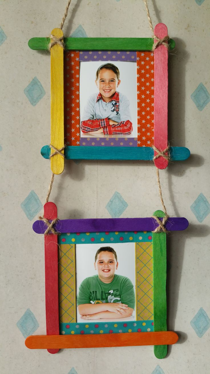 Colourful Frames From Ice Cream Popsicle Sticks