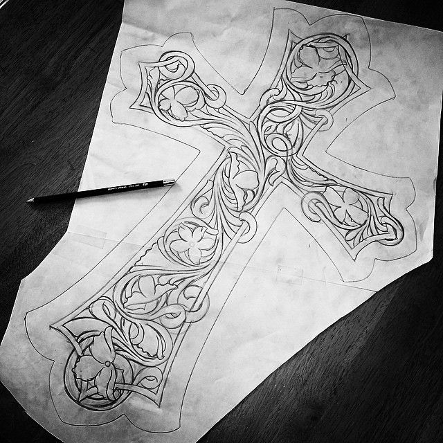 """#sketch #sketch #sketch  This will be a 24"""" tall, all leather wall hanging once complete."""