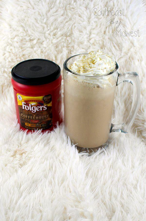 DIY Coffee Milkshake || Southeast by Midwest #ad #CoffeehouseBlend #Folgers #Publix