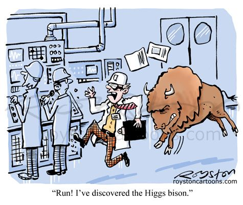 Run! I've discovered the Higgs bison.