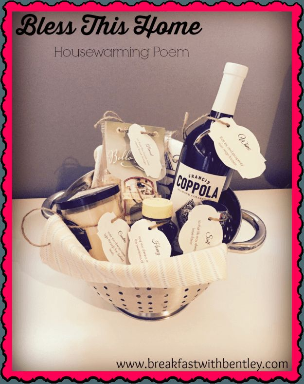Bless This Home – Another Great DIY Housewarming Basket   Are you a Real Estate agent? Great gift for a client who just recently bought a new home!