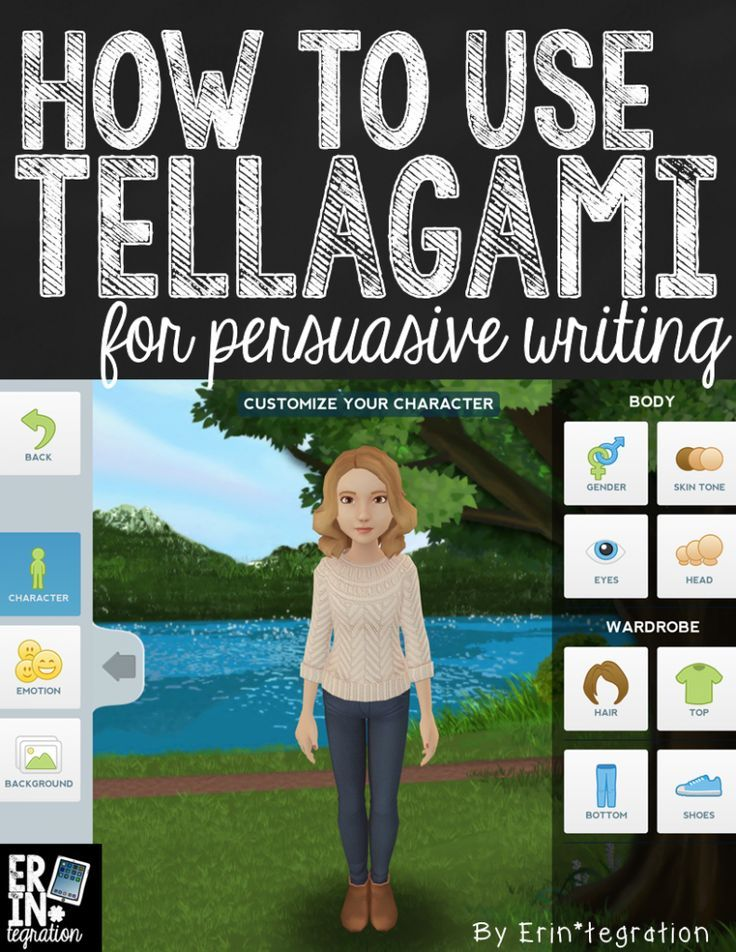 using the free iPad app tellagami in the classroom to share persuasive writing speeches