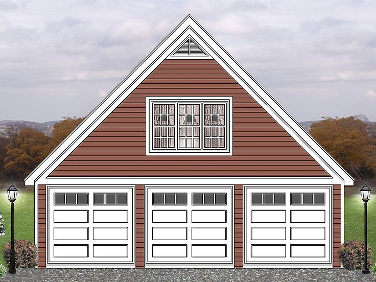 155 best 3 car garage plans images on pinterest boat for Over car garage storage