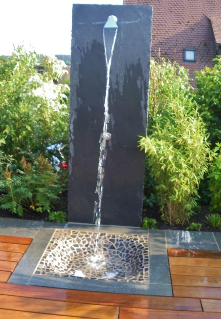 Shower, slate: pool of new garden design by wentzel