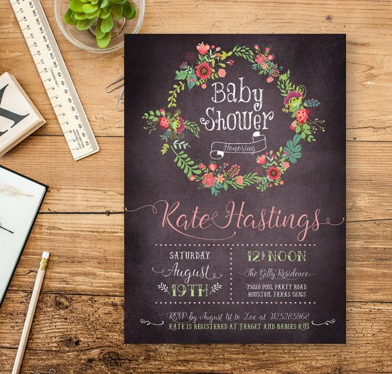 Vintage Chic Baby Shower Invitation Vintage Black by ZPartyDesigns