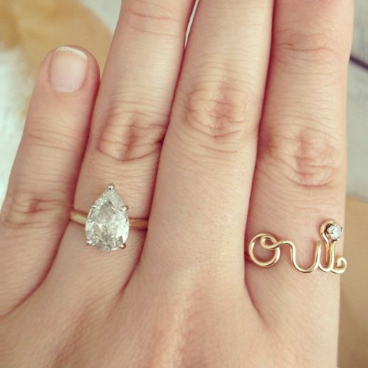 LE FASHION BLOG FAVORITE RINGS ENGAGEMENT RING DELICATE DAINTY SIMPLE THIN ST