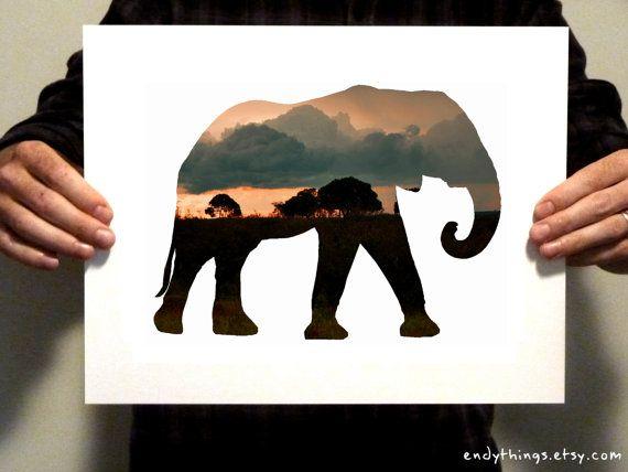 Hey, I found this really awesome Etsy listing at https://www.etsy.com/listing/167627569/elephant-habitat-print-11x14