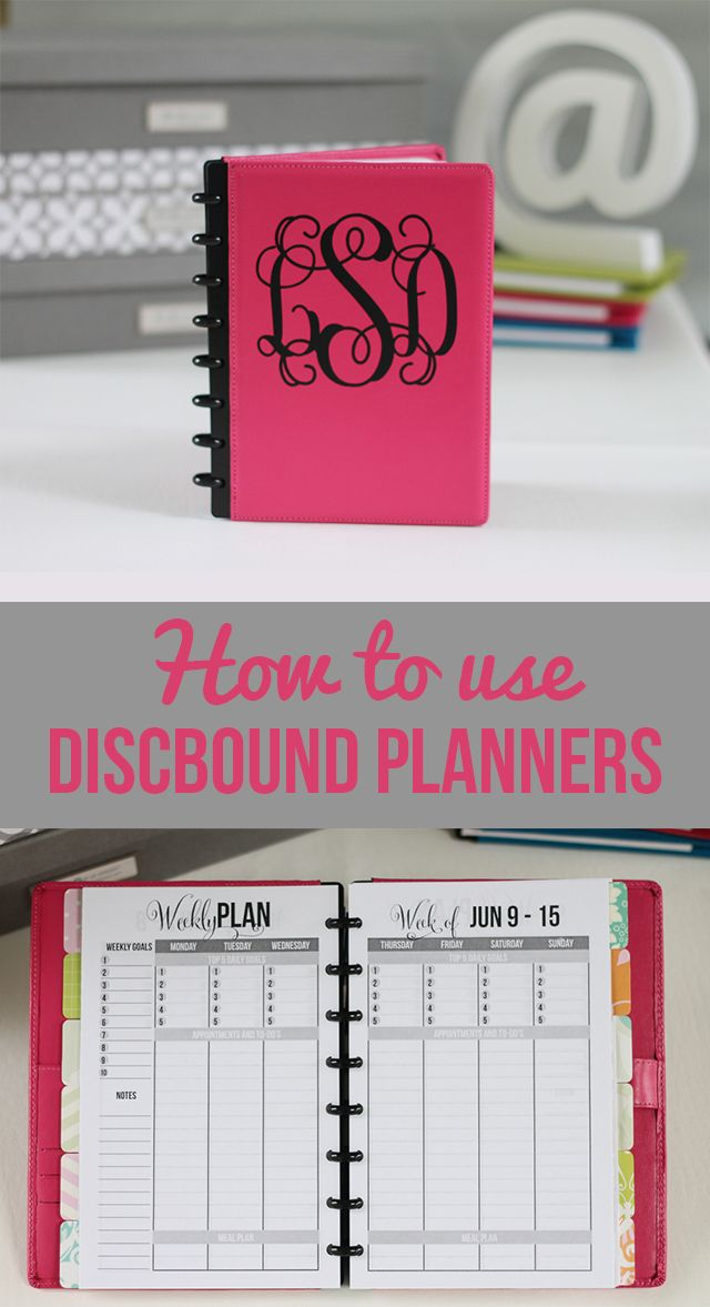 Super Sweet Life: How I Use Printables In My Discbound Planner