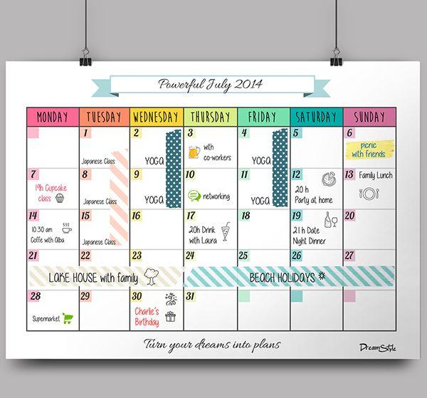 1728 best calendars images on Pinterest   Calendar 2018, Calendar ...