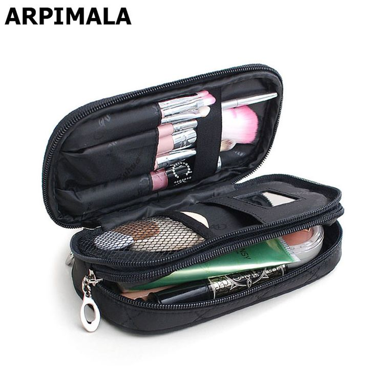 Small Cosmetic Bags Makeup Bag Women Travel Toiletry Bag Professional Storage Brush Necessaries Make Up Organizer Case Beauty