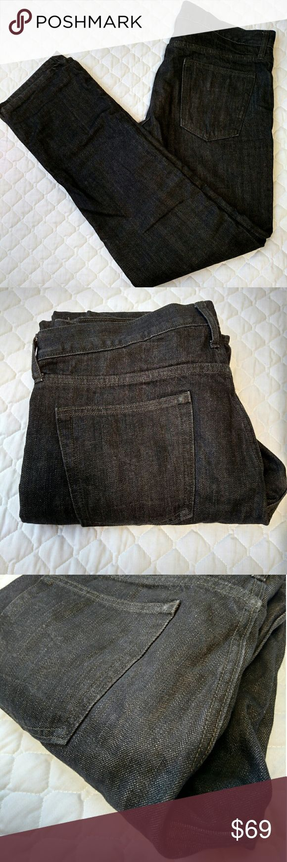 Old Navy flannel lined black jeans 34 NWOT very black flannel lined jeans.  Awesome jeans for cold camp trips or winter time.  Please go up a size since the jeans will fit snug, such as: if you usually wear 33, these should be good! Old Navy Jeans Straight