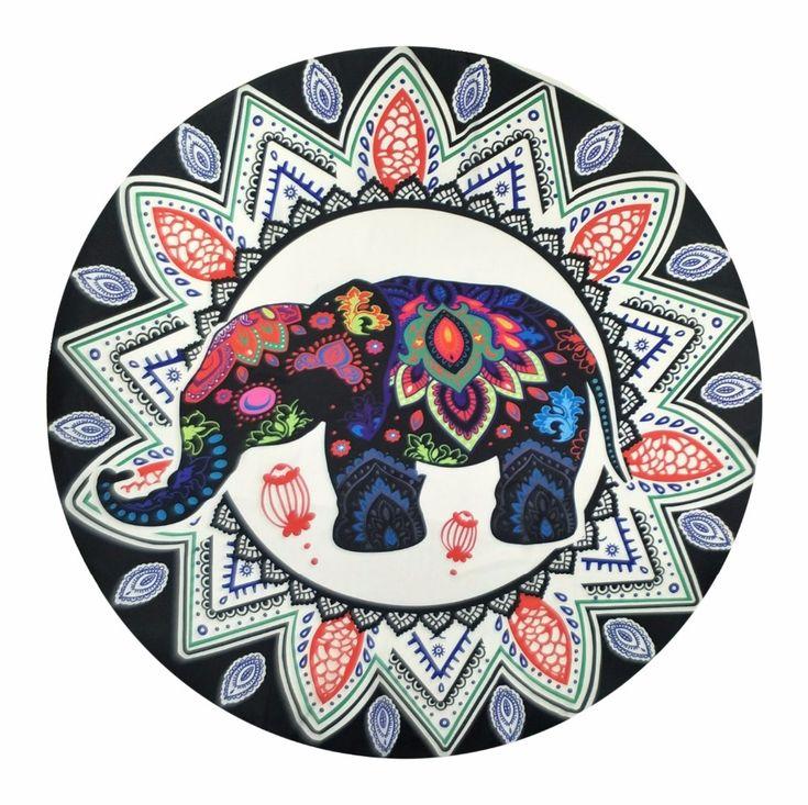India Elephant Tapestry Peacock Printed Mandala Boho Wall Hanging Bohemia Beach Cappa Towel Bedspread Gypsy Yoga Mat Blanket