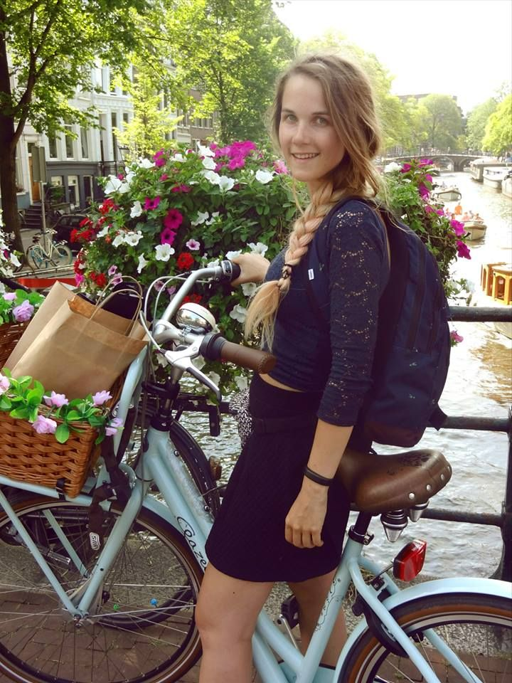 With my Miss Grace - Gazelle bike in Amsterdam ^_^