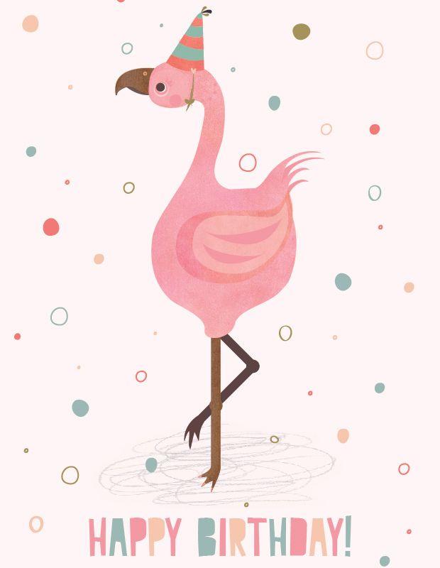 Открытке свадьбу, открытка фламинго