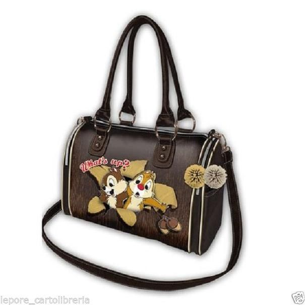 Borsa bauletto CIP E CIOP WHAT S UP ecopelle morbida - DISNEY