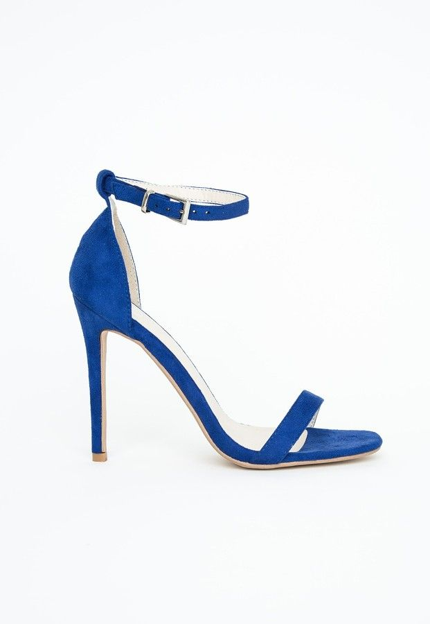 $24, Clara Cobalt Blue Strappy Heeled Sandals by Missguided. Sold by Missguided. Click for more info: http://lookastic.com/women/shop_items/102642/redirect