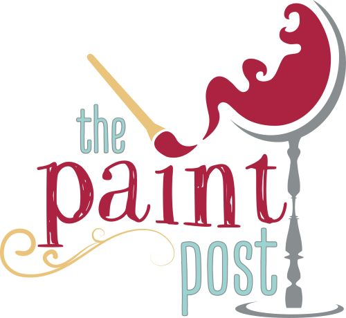 Painted Post, Party Logo , Paint And Sip