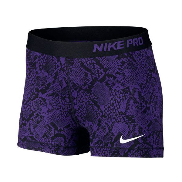 Women's Nike 3 Inch Pro Core Compression Shorts ($35) ❤ liked on Polyvore featuring activewear, activewear shorts, nike sportswear, nike activewear and nike