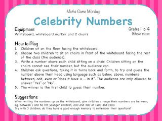 Celebrity Numbers