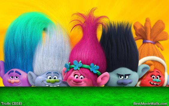 A bunch of colourful #Trolls from Dreamworks' Trolls 2016 :]