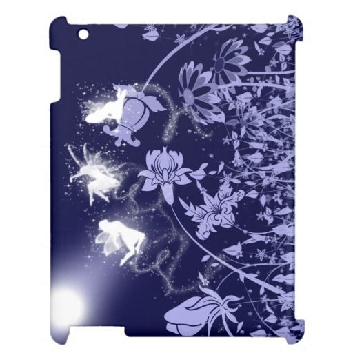 Playful Blue Fairies iPad Case - These beautiful, luminescent, blue fairies sparkle on your iPad case as they dance and play in the night garden. http://www.zazzle.com/playful_blue_fairies_ipad_case-256712798960681465?rf=238523064604734277