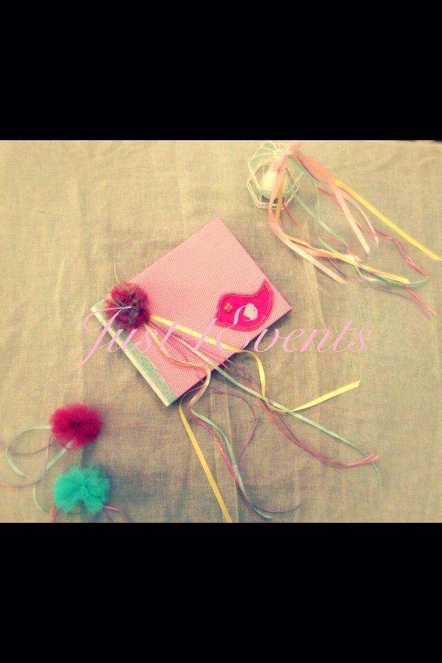 Βιβλίο ευχών ροζ, κίτρινο, λιλά, μέντα.... Wish book pink, yellow, lilac, mint....