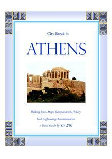 """City Break in Athens"" takes you by the hand to ALL the wonderful places in Athens! Hotel recommendations…transportation guide with maps… where to eat… Intriguing ancient monuments and culture… etc…  read more at Kobo."