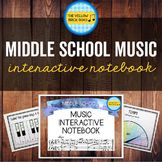 Middle School Music Interactive Notebook. Pages could be used as stand-alone activity or as full interactive notebooks. Easy to use in a general music class.