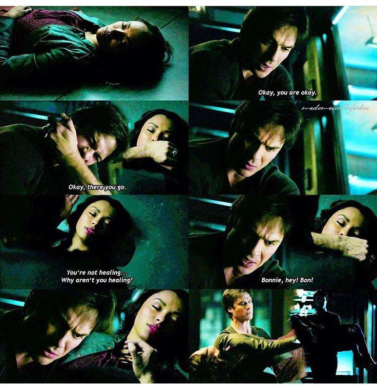 "#TVD 7x14 ""Moonlight on the Bayou"" - Bonnie and Damon"