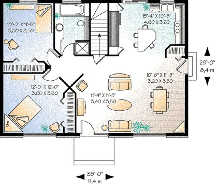 Two Bedroom House Plans Inspiration For The Small