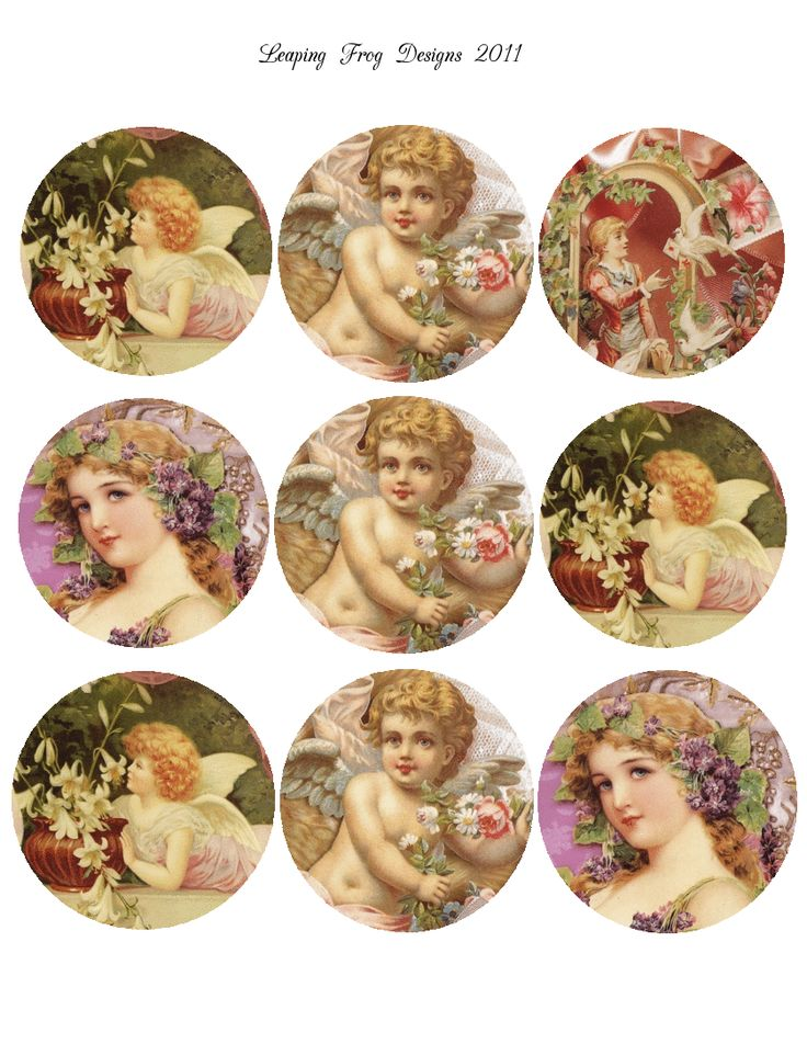 Vintage Angels (PNG) put pix in bottle tops? Get drinking that beer bobby! Crafty wife - happy husband. G