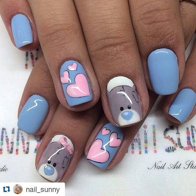 #Repost @nail_sunny ・・・  #artnail #nailart #unhasartísticas #bear #bearnails #bearnailart #teddybearnails #unhasdeursinho #unhasursinhodepelúcia #teddybearnailart #heartsnailart #heartsnails #bluenails #bluepolish #bluenailpolish #esmalteazul #pinkhearts #unhas #unhasdesenhadas #nails #uñas