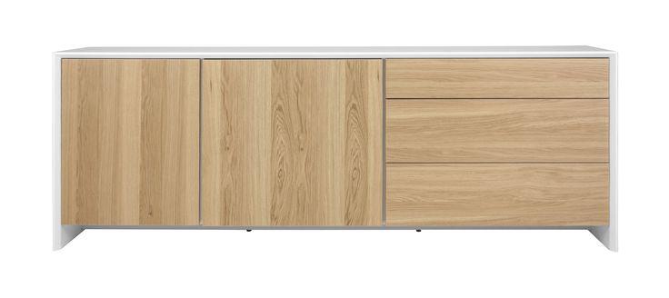 Sideboard Weiss/ Eiche Woody 134-00588 Holz Modern Jetzt bestellen unter: https://moebel.ladendirekt.de/wohnzimmer/schraenke/sideboards/?uid=d3340714-3336-5b63-aa73-6ff39874211d&utm_source=pinterest&utm_medium=pin&utm_campaign=boards #schraenke #wohnzimmer #sideboards #eiche