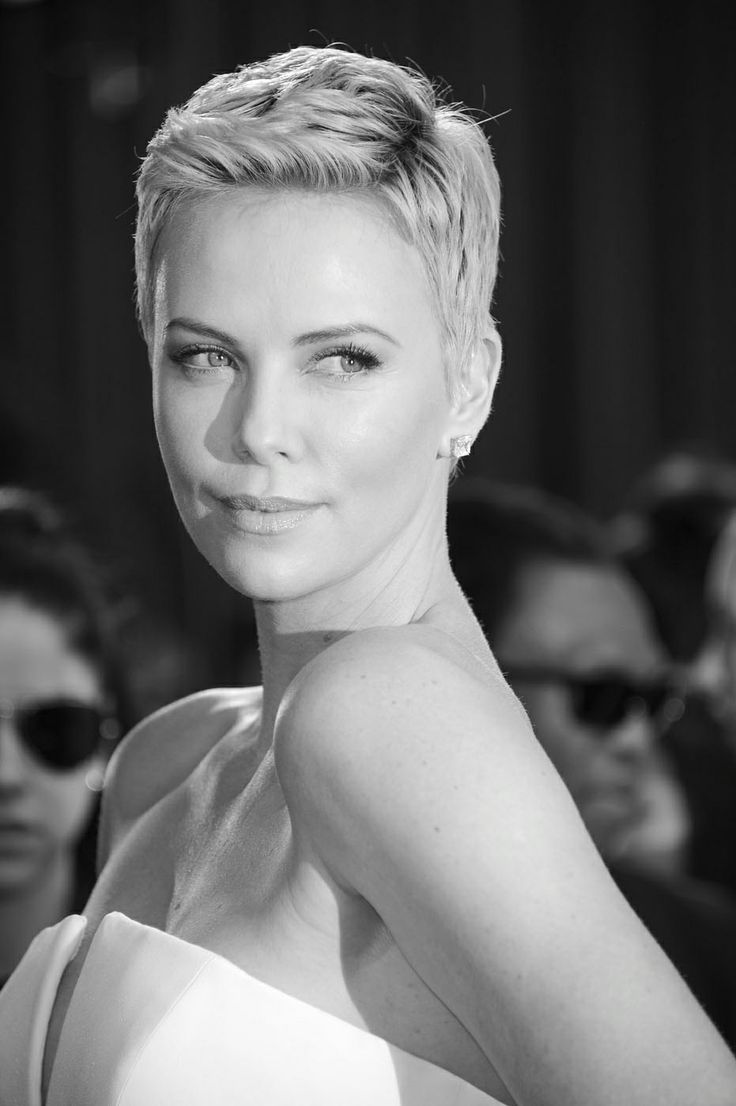 Charlize Theron. Love her short hair cut.  A Gift Wrapped Life - Gifting Tips, Advice and Inspiration
