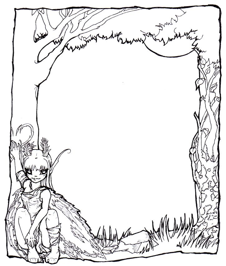 free picture frame coloring pages - photo#32