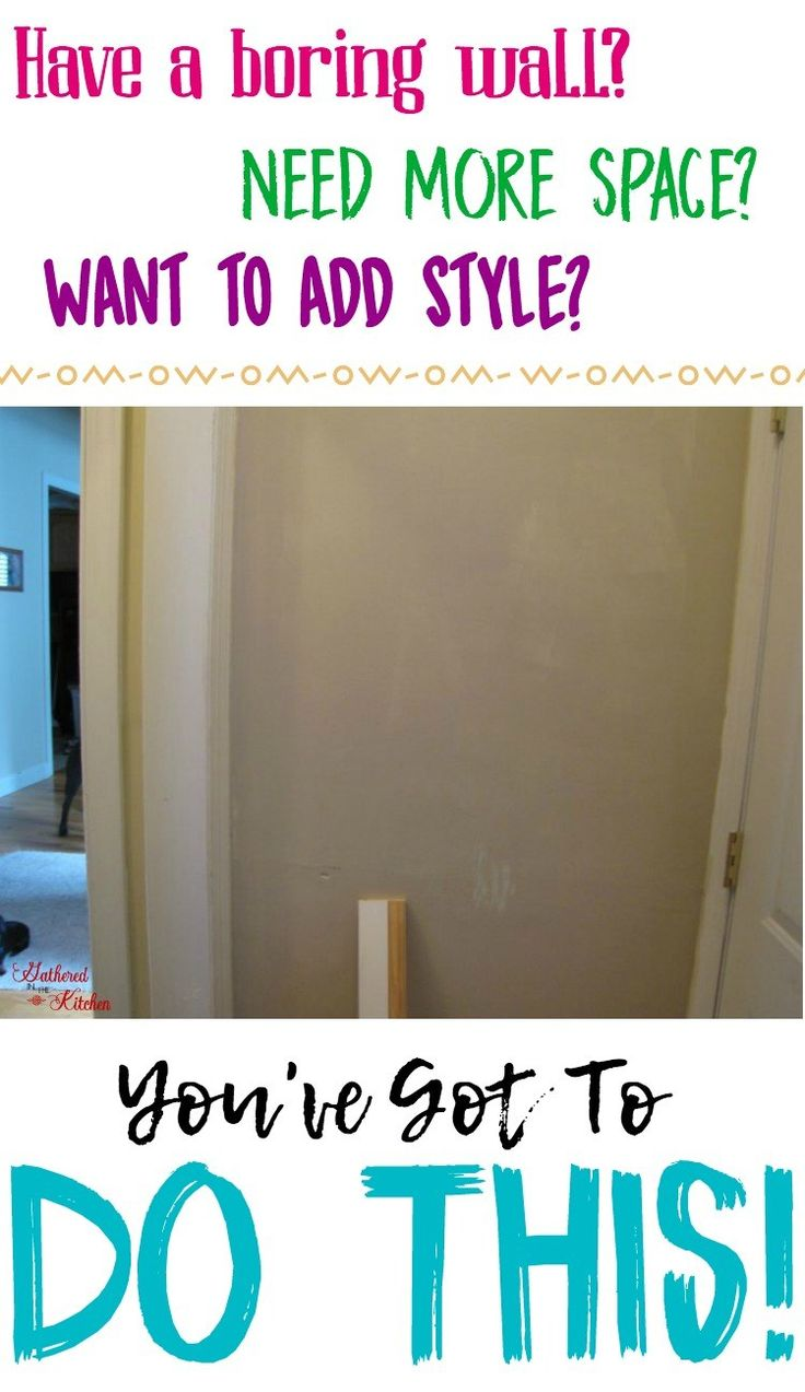 Have a boring wall? Need more space? Want to add style? You've Got To DO THIS! Gathered In The Kitchen