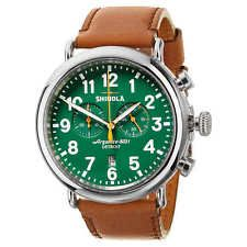 Shinola Runwell Stainless Steel Men's Watch Green Valentines Gift for Him