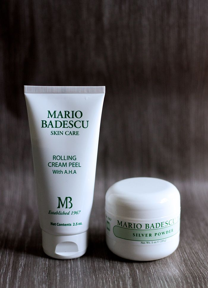 Mario Badescu Rolling Cream Peel AHA and Mario Badescu Silver Powder