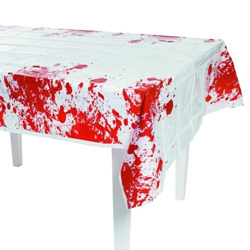"Halloween Zombie Apocalypse Party Blood Spattered Table Cover-54"" x 108"" Party Supplies http://www.amazon.com/dp/B00C7Y23CK/ref=cm_sw_r_pi_dp_lakLub0F9PGFX"