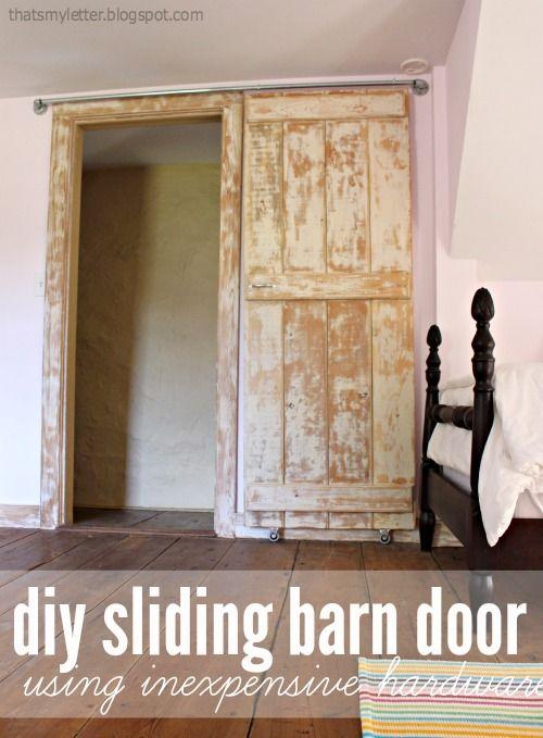 How DIY Barn Door. For The Boysu0027 Closets.