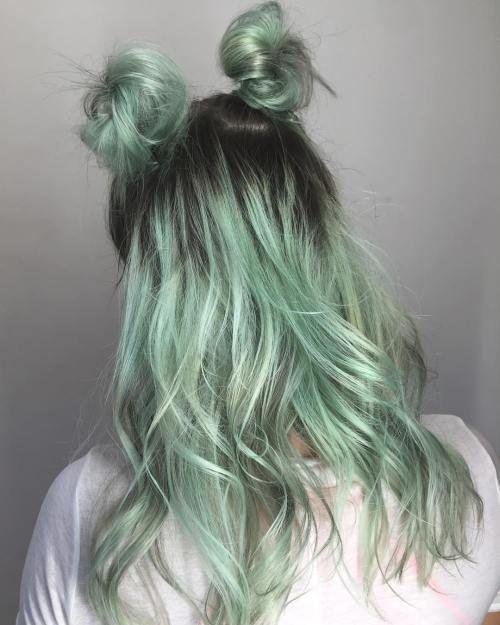мятный цвет волос картинки выглядеть женственно привлекательно