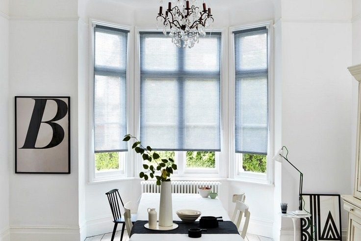 Create Hygge in your bay window with these blinds form award winning UK manufacturer Bloc Blinds. Order free swatches now.