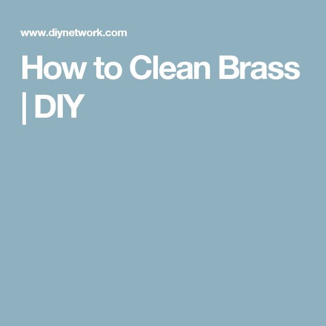 How to Clean Brass   DIY