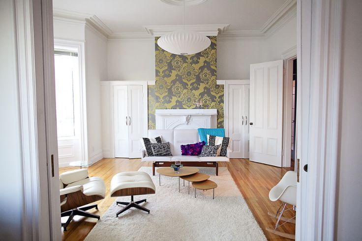 We worked with these uptown clients to inject a #midcentury twist into their #historic home. The space is now bursting with natural light, beautiful furnishings (including a sofa inherited from their grandmother!) and unique local artwork. #tuckinteriors #tuckstudio #residential #interiordesign #makeover