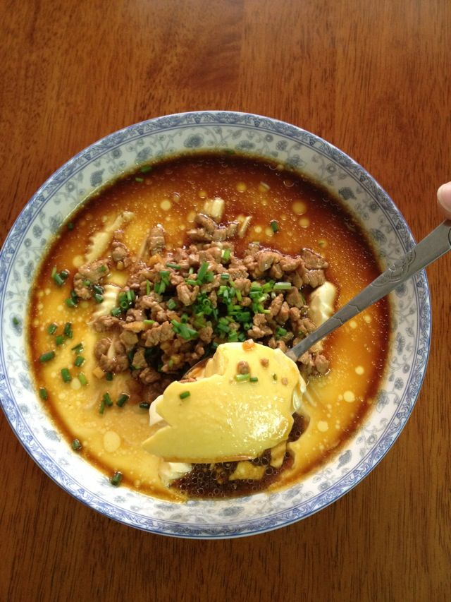 Steamed Egg Custard With Tofu Amp Ground Pork Recipe In Chinese Taiwanese Chinese Food