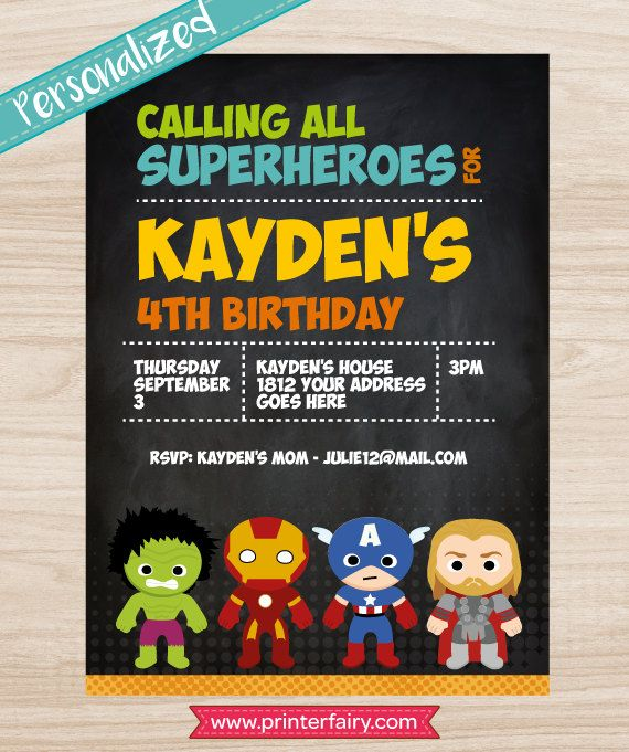 Superhero cupcake toppers printable Avengers cake by PrinterFairy