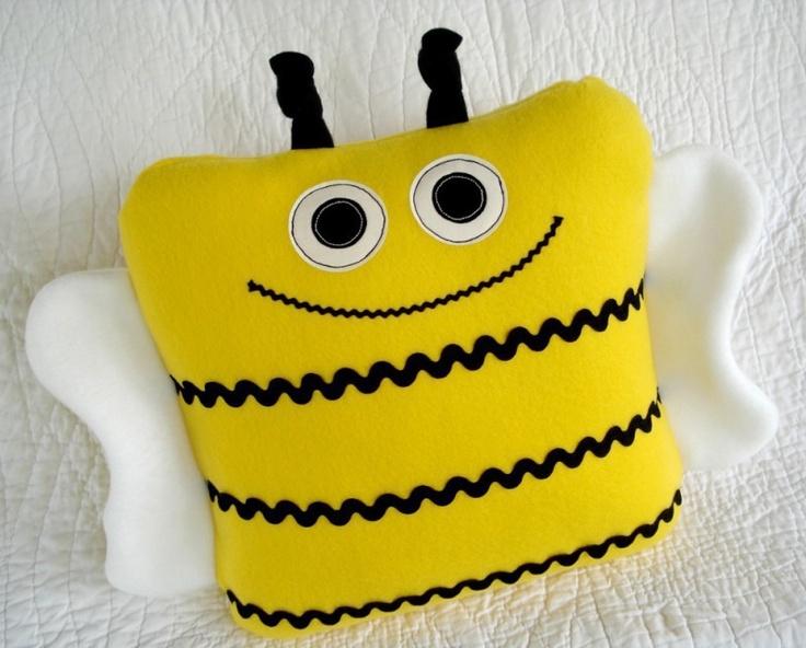 Beetle, Bee & Ladybug Pillows