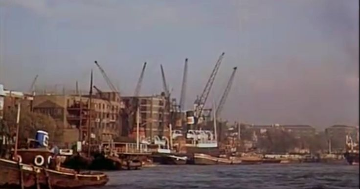 The River Thames by London Bridge Bermondsey South East London England in 1935